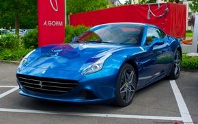 Picture Ferrari, blue, California, 2014
