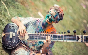 Picture music, Spanish Folk, Festival of Colors, sitar