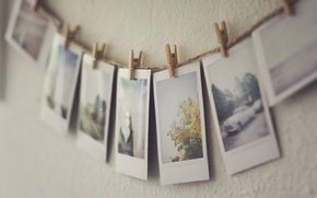 Picture pictures, clothespins, photos