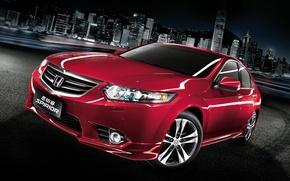 Picture auto, red, Honda, Honda, the front, Type-S, Spirior