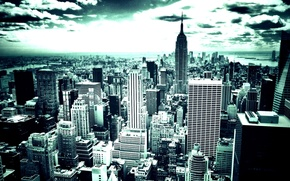 Picture night, the city, lights, background, new York