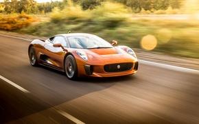 Picture supercar, in motion, Jaguar C-X75