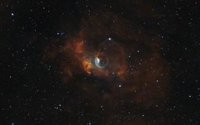 Picture nebula, Bubble, Bubble, Cassiopeia, in the constellation, emission
