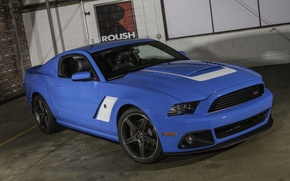 Picture blue, Mustang, Ford, the hood, before, drives