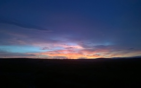 Picture sunrise, The sky, morning, sewastel, contrasts, South-East wind
