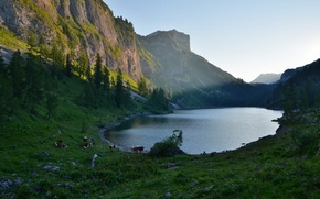 Picture mountains, nature, lake, Alps