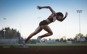 Wallpaper sport, running, start