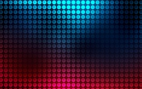 Picture color, circles, blue, pink, abstraction, dark, gradient