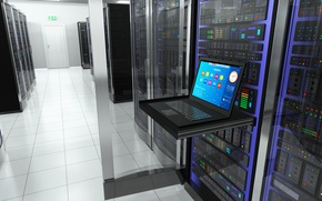 Picture internet, notebook, server, data storage