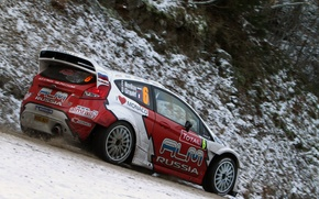 Picture winter, snow, Ford, racer, WRC, Rally, Evgeny Novikov, Ford Fiesta rs, The world Rally championship
