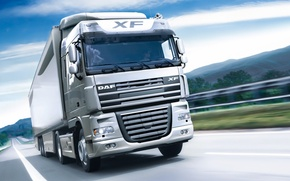 Picture Road, Truck, Wallpaper, DAF, XF105, DAF, ИксЭф105
