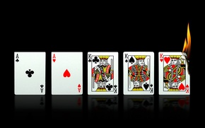 Picture card, fire, aces, full house, kings