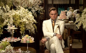 Picture flowers, reverie, New York, mansion, New York, Leonardo DiCaprio, vases, Leonardo DiCaprio, The Great Gatsby, …