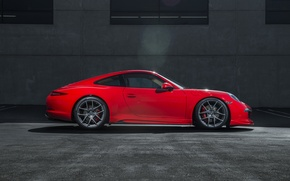 Picture Porsche, red, side, Porsche, 991, Carerra S