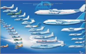 Picture series, models, Antonov, transportation, civil