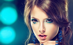 Picture girl, portrait, makeup, hairstyle
