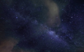 Picture stars, clouds, night, the milky way