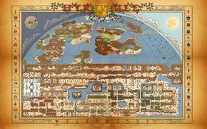 Picture Retro, map, Zelda, Nes, Nintendo, itemps