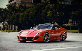 Picture Red, Ferrari, Red, 599, Supercar, GTO, Supercar