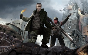 Wallpaper freedom, weapons, warrior, soldiers, ruins, revolution, a Molotov cocktail, Homefront: The Revolution