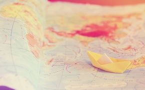 Picture tenderness, travel, boat, map