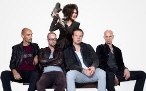 Picture guitar, group, Netherlands, metal, rock, Within Temptation, Sharon den Adel, Sharon den Adel, Robert Westerholt
