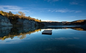 Picture the sky, lake, New Zealand, crystal clear, the ripples on the water, Blue Lake Jetty
