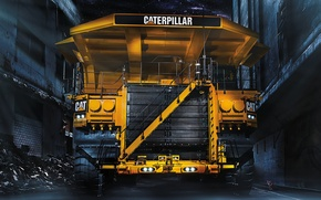 Picture dog, heavy equipment, mining truck, CAT 797F