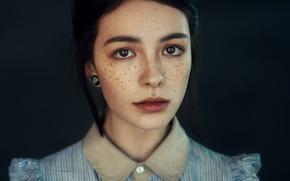 Wallpaper Girl, Beauty, View, Face, Lips, Hair, Freckles, Astana, Nice, Kazakhstan, Fran Ackermann