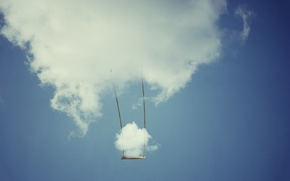 Picture the sky, swing, cloud