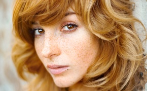 Picture freckles, red, girl, redhead, actress, freckles, Kerekes Vice