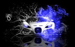 Picture view, neon, Bugatti