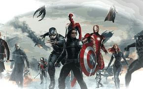 Picture marvel, fighting, action, superhero, warrior, Civil War, CAPTAIN AMERICA 3