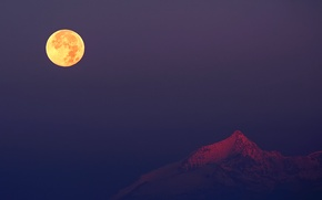 Picture The moon, Alps, Italy, Rochemelon