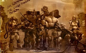 Picture weapons, photo, soldiers, sniper, StarCraft 2, raiders, medic, Jim Raynor
