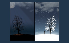 Picture sadness, autumn, Winter