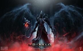 Picture light, wings, angel, armor, Diablo, Malthael, sickles, Angel of death, Reaper of souls