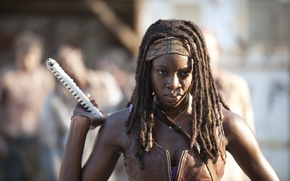 Picture look, the series, arm, The Walking Dead, The walking dead, Michonne, Danai Gurira, Michonne, Danaus ...