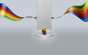 Wallpaper color, apple, Apple, minimalism, 155, mac