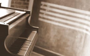 Picture keys, piano, musical instrument