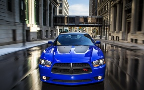 Picture the city, street, Dodge, car, Charger, the front, R/T, Daytona