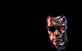 Wallpaper Arnold, Schwarzenegger, terminator, face, terminator, Arnold, t-800, Schwarzenegger, dark