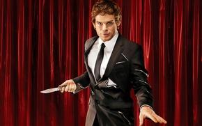 Picture costume, knife, actor, maniac, the series, killer, Dexter, dexter, Michael C. Hall, Michael C. Hall, …