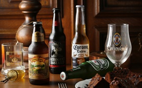 Picture glass, beer, bottle