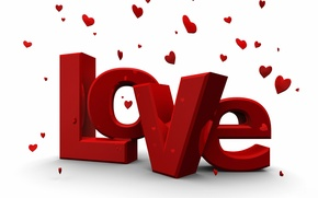 Wallpaper Love, Love, Hearts, The inscription, Valentine's day, 14 Feb, The word, Valentine's Day