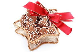 Picture cookies, Christmas, New year, bow, Christmas, cakes, cookies, baking