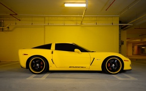 Picture Chevrolet, Parking, City, Parking, corvette, chevrolet, cars, auto, stop, z06, wallpapers auto, Wallpaper HD, Parking