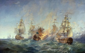 Wallpaper picture, Blinkov, The battle of the island Tendra 28-29 August 1790 g