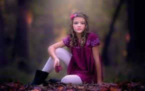 Picture autumn, girl, danielle balance