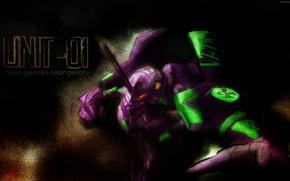 Picture weapons, power, armor, fist, Neon genesis evangelion, combat robot, UNIT-1